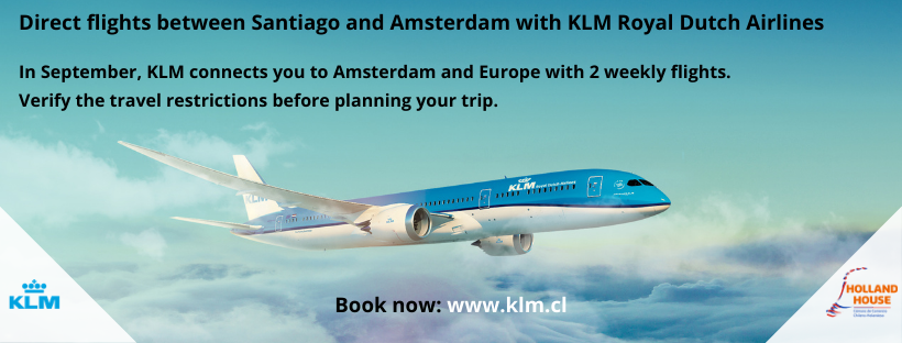DIRECT FLIGHTS BETWEEN SANTIAGO AND AMSTERDAM WITH KLM ROYAL DUTCH AIRLINES